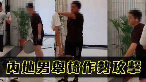 內地男推倒民主女神像  城大學生會報警譴責